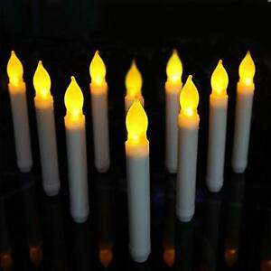 12-Pack LED Candles Flameless Taper Warm White Body Wax Dipped Battery Operated