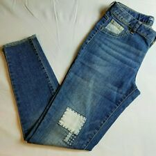 b8873f556c177 Cat   Jack Jeans   Jeggings Size 18P Super Stretch Patch Patchwork New NWT