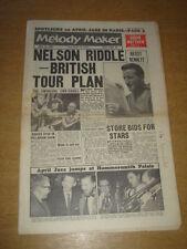 MELODY MAKER 1961 APRIL 15 NELSON RIDDLE TONY BENNETT BRIAN MATTHEW APRIL JAZZ +