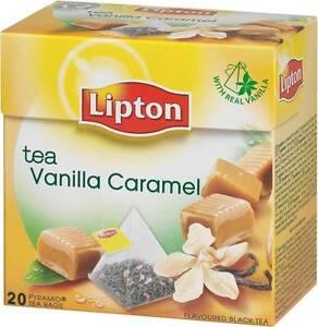 LIPTON Vanilla Caramel - 20 x 6 = 120 pyramid tea bags