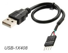 8-inch USB 2.0 A-Male to (1x4) 4-Pin IDC Motherboard Connector Adapter Cable