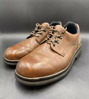AUTHENTIC RED WINGS BROWN LEATHER WORK SHOES 👞 SIZE 12.5 EE PREOWNED.