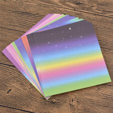 48pcs Gradients Rainbow Colored Paper Assorted Origami DIY Craft Gift 15*15cm