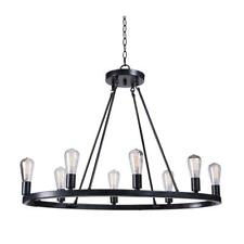 Kenroy Home Hixon 8-Light Forged Graphite Island Pendant