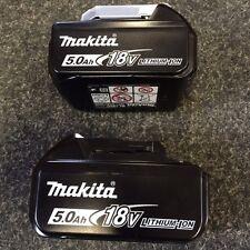 Makita 18v 5.0ah Bl1850 LXT Li-ion Battery 5ah X 2 With Charger