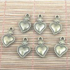 10pcs antiqued bronze color heart shaped radish design charms h0250