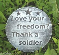 Love freedom military plastic mold plaster concrete  mould