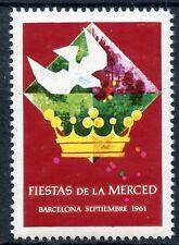 STAMP / TIMBRE VIGNETTE / ESPANA / ESPAGNE BARCELONA / FIESTAS DE LA MERCED 1961