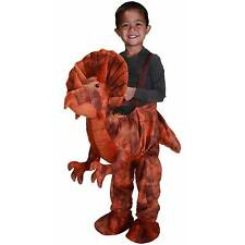 Brown Dino Rider Toddler Halloween Dress Up / Role Play Costume 2T/3T