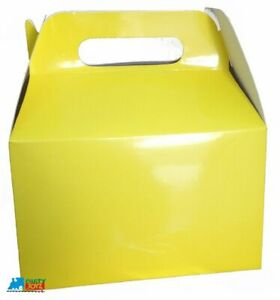 Solid Color Yellow Paper Treat Boxes - 12ct