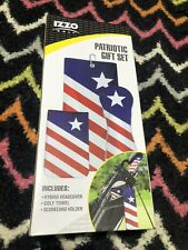 IZZO Patriotic Golf Gift Set Patriotic NEW 2019 Driver Towel Hybrid Headcover