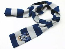 """Harry Potter Ravenclaw Scarf Blue & Gray Cosplay Costume Knit Wool 50"""" US Seller"""