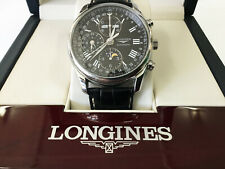 Longines Master Collection L2.673.4.51.7 Stainless Steel Black Dial Chronograph