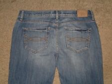 Abercrombie & Fitch Size 4 Short Light Blue Flare Stretch Denim Womens Jeans