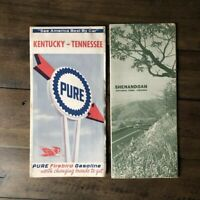 Two Vintage 1966 Shenandoah National Park Virginia and Kentucky Tennessee Maps