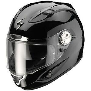 SCORPION EXO-1000 AIR GLOSS BLACK MOTORCYCLE HELMET - SMALL