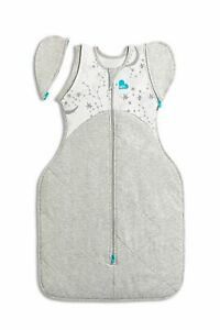 LOVE TO DREAM SWADDLE UP TRANSITION BAG  - 3 SIZES - WARM 2.5TOG GREY / WHITE