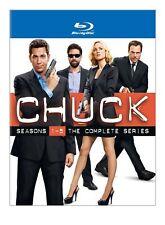 Chuck ~ Complete Series ~ Season 1-5 (1 2 3 4 5) ~ NEW 17-DISC BLU-RAY BOX SET