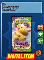 50x Vivid Voltage Codes Booster Packs Pokemon TCG Online (PTCGO, Ingame)