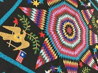 Hand Applique Lone Star with Patriotic accents FINISHED QUILT
