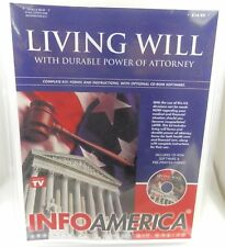 Living Will with Power of Attorney CD Info America (PC) Software 2520 software