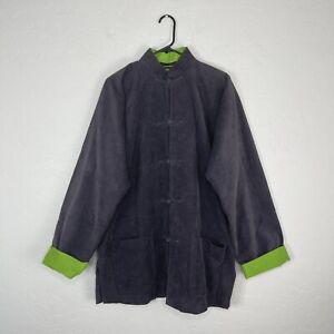 shanghai tang mandarin corduroy cotton men's cotton jacket size large