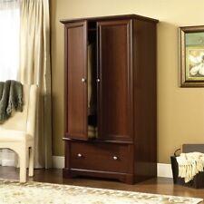 Wardrobe Cherry Armoire Storage Clothes Rack Cabinet Closet Bedroom  Furniture