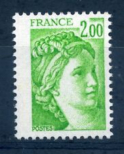 FRANCIA 1980 2F VERDE Marianne AN TIMBRO Nuovo di zecca