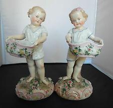 Ernst Bohne Söhne  Rudolstadt Porcelain Pr Boy & Girl Figures
