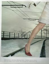 ▬► PUBLICITE ADVERTISING AD LOUIS VUITTON 2 pages Chaussures Maroquinerie 2002