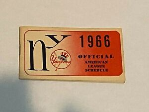 1966 New York Yankees official Schedule. booklet. mint condition.