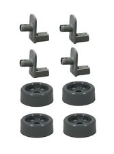 Repair Kit for GE Dishwasher Rack Wheel and Axle Shaft 4 each