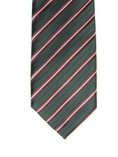 Alfani Men's Barbaros Striped Neck Tie & Tie Clip Red Multi Skinny 2 1/2