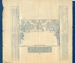 GB 1840 Mulready 2d Blue Wrapper (A 96)