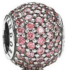 Brand New Genuine Silver Pandora Pink Pavé Pave Ball Charm 791051CZS RRP £55