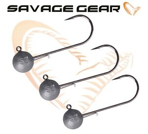 Savage Gear Tournament Series Ball Jig Heads for Lures Shad Teez Cannibal 3pcs