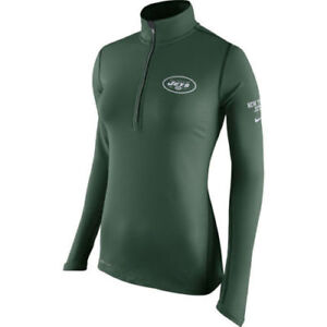 NWT WOMEN'S NIKE NEW YORK JETS Green Tailgate Element QUARTER-Zip Jacket Large
