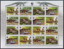 2003 CARIBBEAN ISSUE SOUVENIR S WWF Crocodiles rombifer Krokodile SCT. 2345a NH