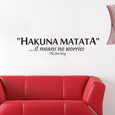 """""""Hakuna Matata ..."""" Quote Wall Decals Vinyl Wall Stickers Removable Small"""