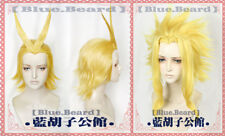 Anime My Hero Academia All.Might Short Golden Hair Battle Cosplay Costume Wig