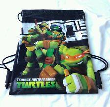 Black Teenage Mutant Ninja Turtles TMNT Drawstring Backpack Boy Sling Gym Bag 🎒