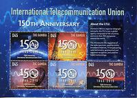 Gambia 2015 MNH International Telecommunication Union ITU 150th 5v M/S Stamps