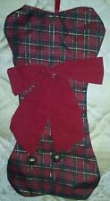 CHRISTMAS BONE & BELLS STOCKING PET DOG PUPPY PUP ANIMAL PAWS RED * NEW *