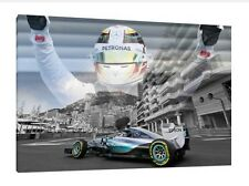 Lewis Hamilton Monte Carlo 30x20 Inch Canvas Mercedes Framed Picture F1 Print