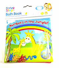 NEW BABY BATH BOOKS PLASTIC COATED KIDS CHILD  BATH TIME FUN EDUCATIONAL TOYS