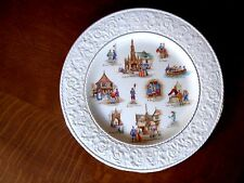 "ROYAL WINTON GRIMWADES OLD ENGLISH MARKETS 12 3/8"" PLATE WEDGWOOD BORDER VERY GC"