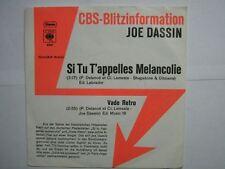 JOE DASSIN 45 TOURS GERMANY PROMO SI TU T'APELLES MELAN