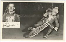 Motorcycle Famous Rider At L. M. S. Racing RPPC Real Photo Postcard