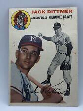 1954 Topps Jack Dittmer Braves #53 Set Break