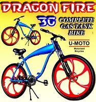 POWERFUL GAS TANK BIKE FOR 2-STROKE 66cc/80cc COMPLETE DIY MOTORIZED BICYCLE KIT
